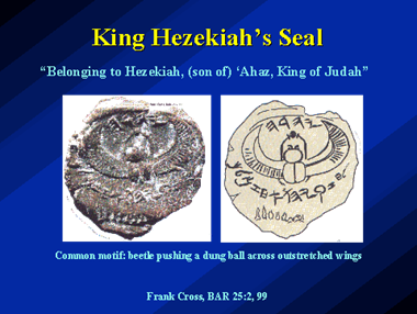 The Prophet Hosea & King Hezekiah were alive at the same time