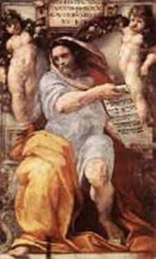 The prophet Isaiah by: Michelangelo Sistine Chapel