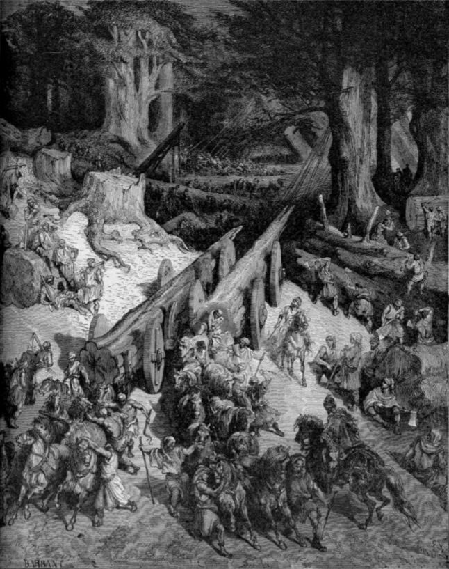 And  Hiram  king of Tyre sent his servants unto... by: Gustave Dore