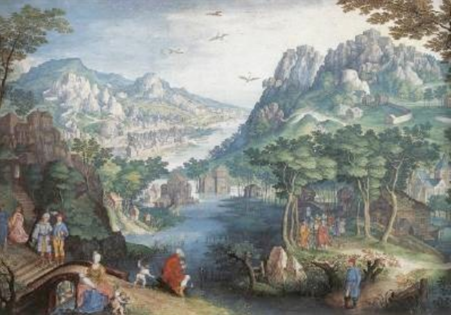 Mountain Landscape with River Valley and the Prophet Hosea CONINXLOO, Gillis van (b. 1544, Antwerpen, d. 1607, Amsterdam)