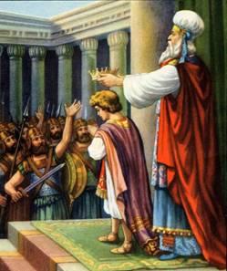 King Josiah being Coroneted by Chilkiyahu the Kohen Gadol