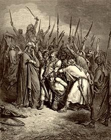 Samuel Cutting off the Head of Agag, the Amalekite King (Samuel 1:15), by Gustav Dore