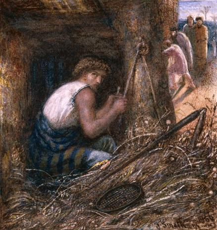 Saul Hiding among the Stuff, 1866 by James Smetham