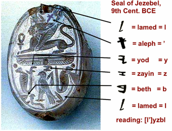 Athaliah's (Step)Mother was the Evil queen of the Northern tribes, Jezebel whose Royal Seal is shown here.