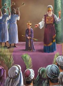 At the age of 8 King Yehoash was coroneted by Yehoyada the Kohen Gadol ~ High Priest