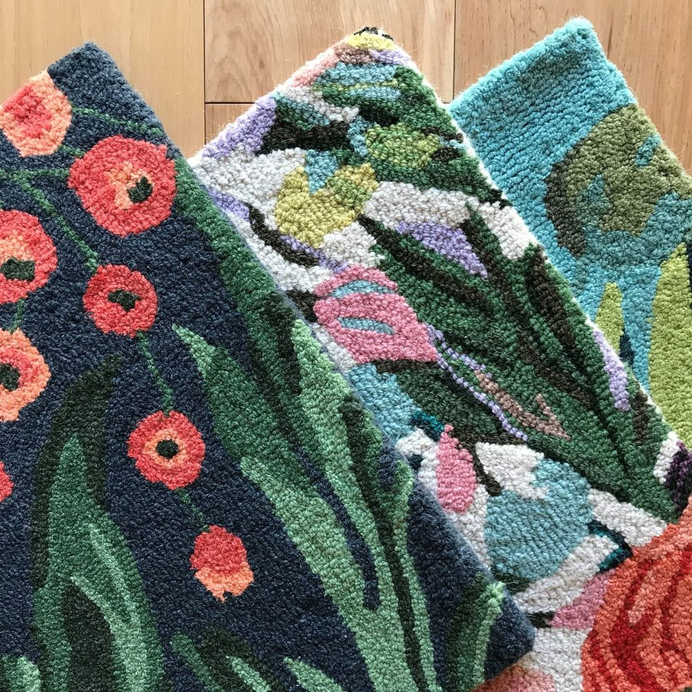 SCROLL AND FLORAL RUGS