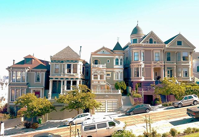 Last month we took a trip to San Francisco, and I got some great pictures while I was out there! I went to Alamo Square Park to check out the famous Painted Ladies, which were very nice, but right around the corner I saw this collection of houses that were even more spectacular. These houses have everything in the way of architectural ornamentation including garland and swag, brackets, modillions, dentils, multiple window types, turrets, and the list goes on! This was a truly beautiful row of houses (surrounded by even more incredible houses), that totally made hiking up and down those crazy hills with a baby worth the workout 😊  Photograph by Derek Anderson