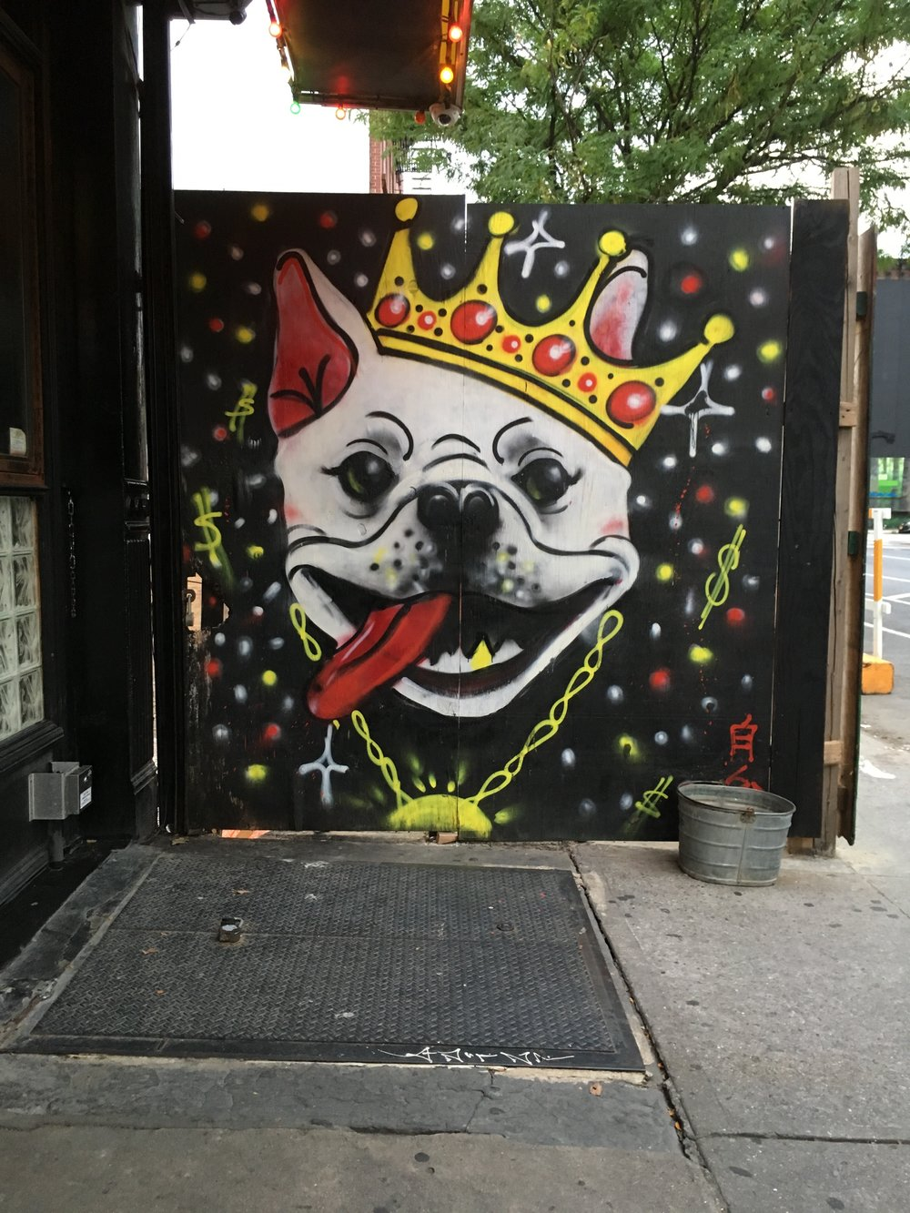 Spotted in Bed-Stuy right outside  Do or Dive , a bar that allows dogs!