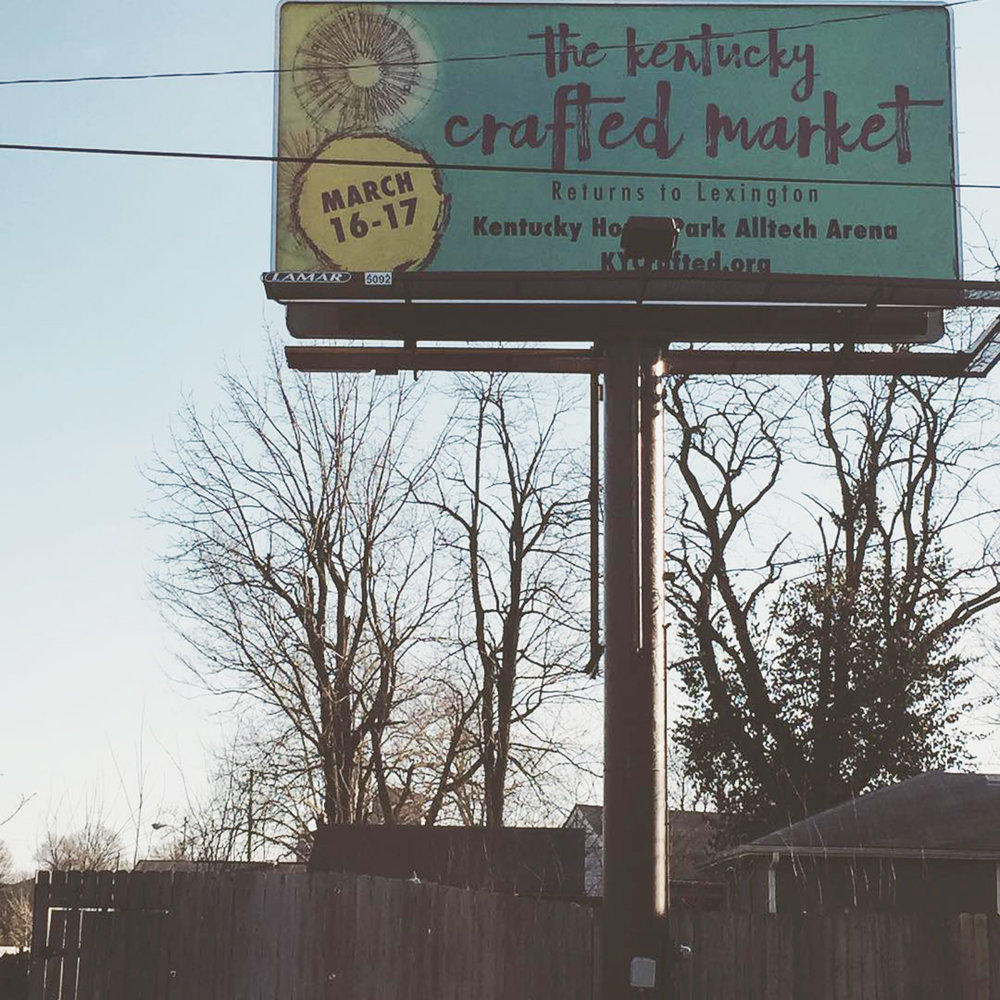 Billboard - marketing materials for 2019 KYCrafted Market
