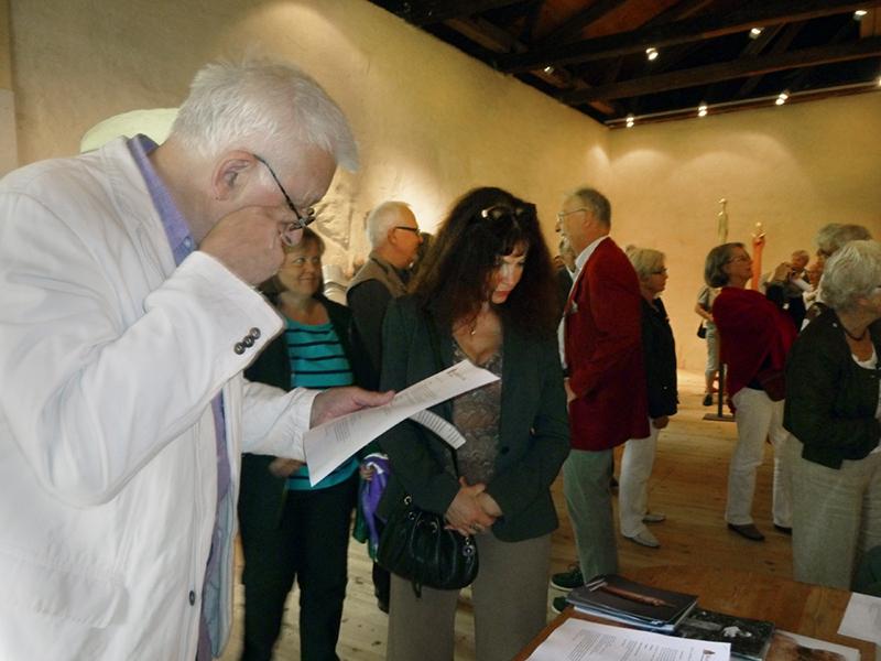 Olof Buckhart invigde utställningen