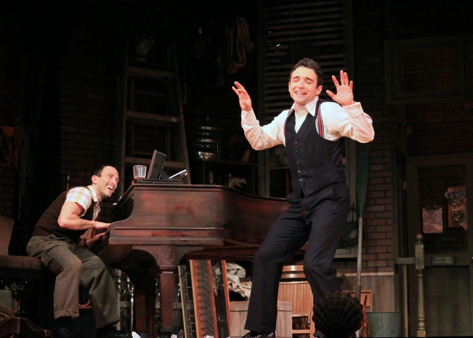 Toes selling Fingers on his big idea. (Aaron Berk as Fingers, Rick Faugno as Toes).