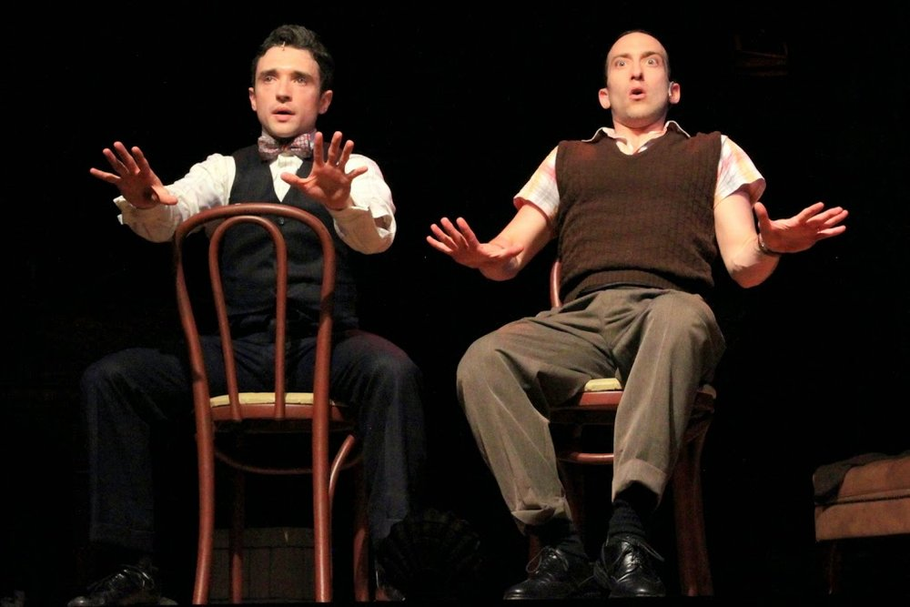 Some not so good auditions. (Aaron Berk as Fingers, Rick Faugno as Toes).