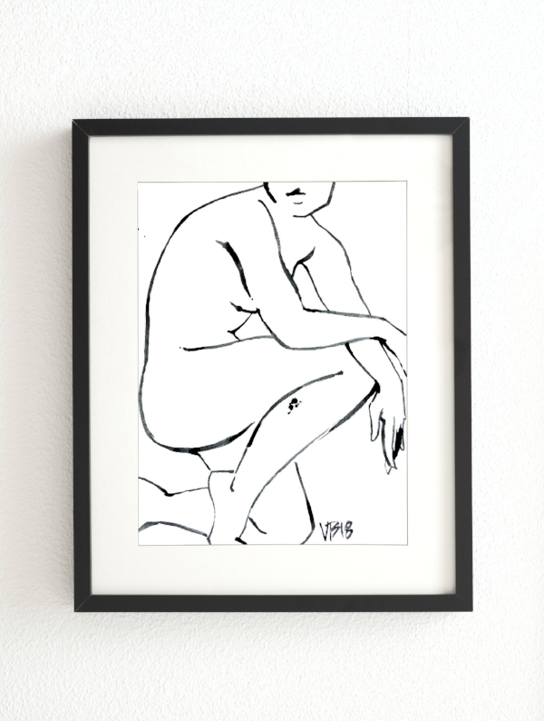 This print by Victoria Bradley is a great option for the more minimalist/modern art-lover. The original painting was done with a single brush and a simple well of black paint! The image is printed on Somerset Velvet paper & you have the option of 3 sizes. While the print does not come matted or framed, I really love the way it is shown here & you could easily have that done before giving it to your art-lover! ($35+)