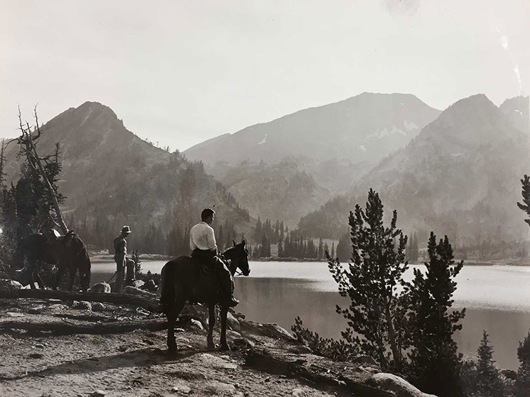 Copy of Donald Sherwood on horseback, 1932