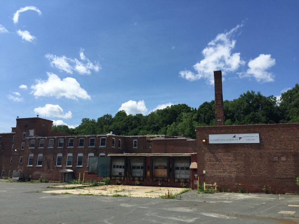 The dormant Eagle Mill on West Center Street in Lee is envisioned to become a commercial and residential complex if a $60 million adaptive reuse plan devised by Mill Renaissance LLC comes to fruition. Photo, Heather Bellow.