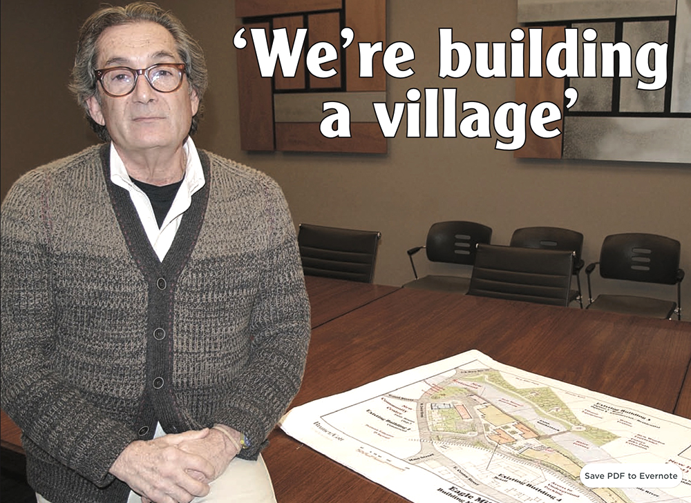 Jeffrey Cohen of Mill Renaissance LLC is well into the second year of a due diligence process for his proposed purchase and redevelopment of the former Eagle Mill. His plans for conversion of the property into a mixed-use commercial and residential complex will be presented at public meeting in Lee on April 24.