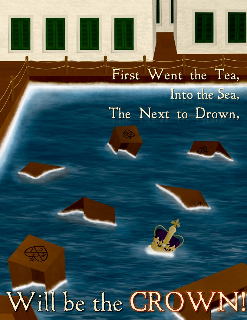 Boston Tea Party Poster  This poster was created for my US Government class.