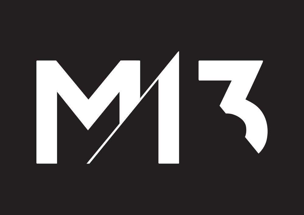M13 logo in white with black background.jpg