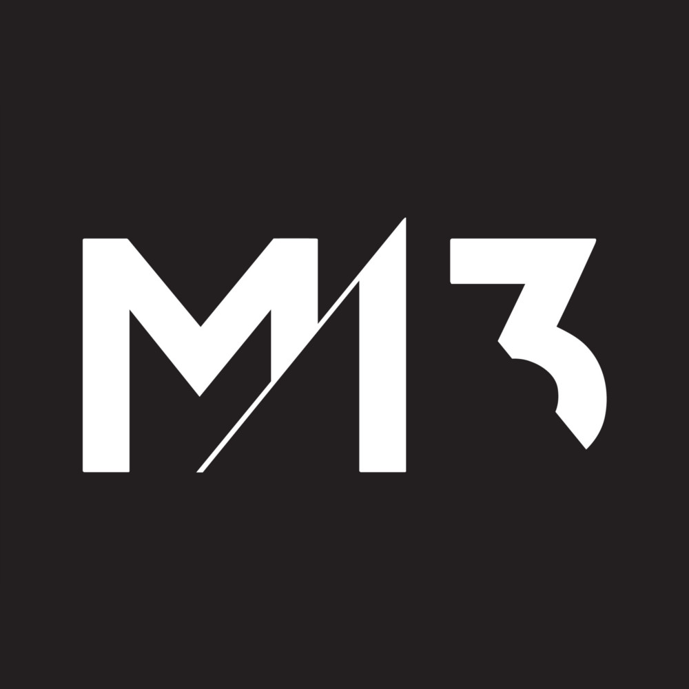 M13 logo in white with black background Square.jpg