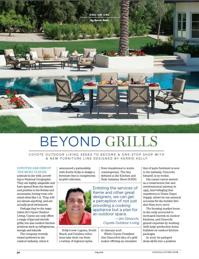 - Q&A published in the July 2018 print edition of Casual Living.