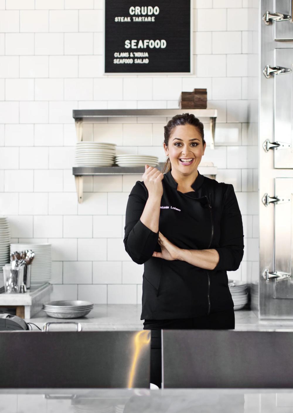 Antonia Lofaso, owner and chef at Sycamore Tavern, Black Market Liquor Bar, and Scopa Italian Roots  Courtesy of Antonia Lofaso