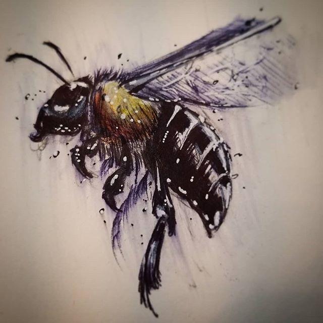 Little bee sketch.  #odditytattoo #hivecaps #redbeardactual #hivecups #art #draw #drawing #sketch #bee #beetattoo #beedrawing #sarasota #floridatattoos #tattoo #tattoos #941 #buzzbuzz #partyonwayne #partyongarth