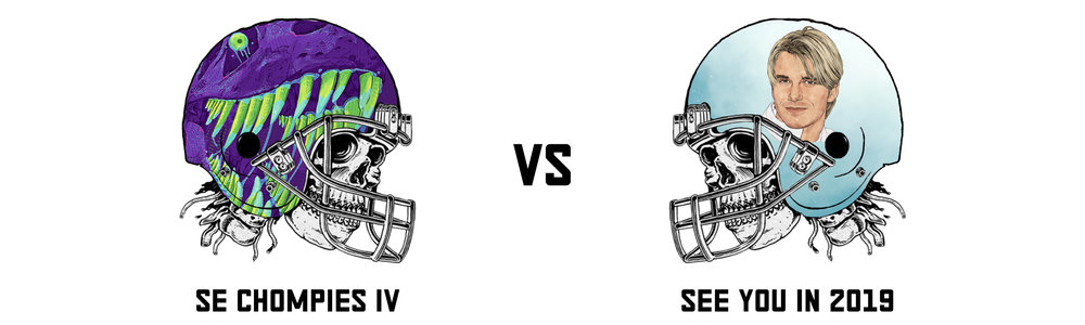 SE CHOMPIES IV 78.22   vs  SEE YOU IN 2054(?) 101.34   Aaaaaand he's back in the game. The team formerly known as See You In 2019 (which, by the way, i'm not changing on the site) finally snagged their first victory of the season over Brett's so called 'best team in the league'.  When he needed some magic, BT got it from old Fitzmagic himself who gunslang his team into the lead on Monday night with a good old helping of Mike Evans. Maybe for each victory obtained this season you take that counter down a year. So see you in 2053 See You In 2054.  Brett's team however has dramatically underperformed for the second time this season notching the second worst score of the week with some absolute no-shows (looking at you Brady).   SE Chompies IV's Top Trio:  Kareem Hunt - 16.40 Matt Prater - 14.00 (you know it's a bad week when your kicker was your 2nd best scorer) Tevin Coleman - 10.70   See You In 2054's Top Trio:  Ryan FitzMAGIC - 28.14 Mike Evans - 19.70 Alfred Morris - 12.70