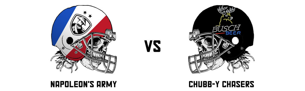 NAPOLEON'S ARMY 115. 14 vs  CHUBB-Y CHASERS 151.64   Don't look now, but Alec's team is starting to get on a roll. Wins over Francis and Pieyre has set up a potential third place finish and a winner takes all matchup against Raph in the playoffs.  As to this specific matchup - it was... okay. A high scoring affair that was over early on.  Even with the Saints and Travis Kelce completely balling out they rest of Pieyre's team didn't show up and got steamrollered by the PPR princes - Alvin Kamara and Christian McCaffrey.  Better luck next week Pieyre. Not in fantasy of course, in your quest to have an entire team constructed of Saints players. Dez Bryant? Really?   Napoleon's Army's Top Trio:  Drew Brees - 31.44 Michael Thomas - 27.10 Travis Kelce - 21.90   Chubb-y Chaser's Top Trio:  Jared Goff - 30.34 Alvin Kamara - 29.60 Christian McCaffrey - 27.70