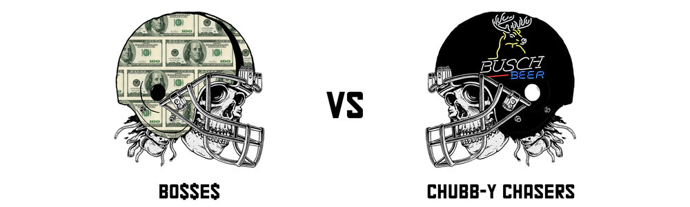 BO$$E$ 94.66 vs  CHUBB-Y CHASERS 135.20   Alec's team keeps marching with another comprehensive win to keep alive the biggest winning streak in the league currently (3). Spelled by the double punch of McCaffrey and Kamara this 40+ point win was never close after Thursday night last week.  Aaron's season has gone down the pan at this point, but there's always pride and the consolation prize*  *(consolation prize details still to be confirmed)   BO$$E$'s Top Trio:  Allen Robinson II - 25.30 Aaron Rodgers - 18.06 Derick Henry - 17.80   Chubb-y Chaser's Top Trio:  Christian McCaffrey - 31.80 Alvin Kamara - 22.20 Jared Goff - 22.10