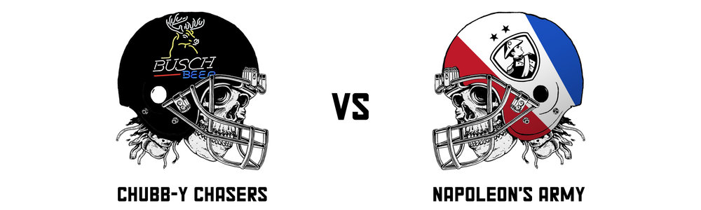 CHUBB-Y CHASERS 85.46  vs NAPOLEON'S ARMY 71.92  Another incredibly close matchup came down to the Monday night game, where Alvin Kamara ultimately settled it for the Chasers.  Pieyre - I share your pain as your team completely failed in an hour of need. Fun fact - Pieyre also lost a semi-final in Raph's league. Fantasy is mean. However as mentioned, this result set's up a rematch of last years final which is interminably BORING. I hope you both lose.   Napoleon's Army's Playoff Top Trio:  Chris Carson - 20.80 Antonio Brown - 10.90 Jacksonville - 10.00   Chubb-y Chasers' Playoff Top Trio:  Christian McCaffrey - 18.00 Jaylen Samuels - 17.20 Alvin Kamara - 16.30