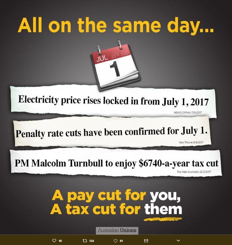 Source: Australian Unions Twitter