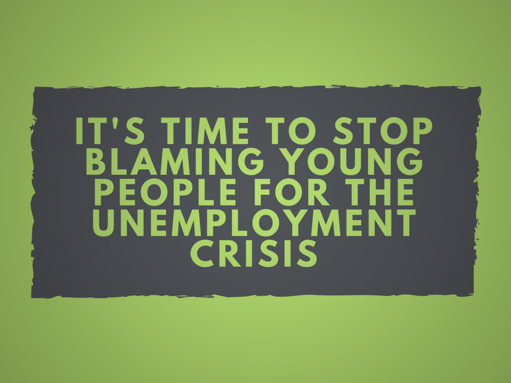Read our story on why the narrative around youth unemployment needs to change -