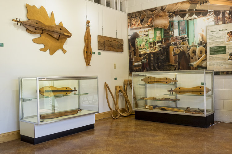 Museum of the Mountain Dulcimer - Knott CountyThis permanent exhibition of instruments features many dulcimers which are on loan to the Center from local banjo player and historian, George Gibson.