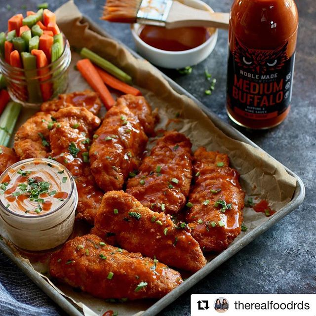 #Repost @therealfoodrds with @get_repost ・・・ Spice things up at your next football party or weeknight dinner (#ad) with our Whole30-friendly Buffalo Chicken Strips with Buffalo Ranch. Oven-baked and made ultra-easy (and ultra-tasty) with a little buffalo sauce magic from our friends at @thenewprimal this recipe is just further proof that buffalo anything is the bee's knees. ⠀ .⠀ •⠀ For the recipe go here: https://therealfoodrds.com/buffalo-chicken-strips/ OR click the link in our bio @therealfoodrds⠀ .⠀ .⠀ .⠀ .⠀ .⠀ #therealfoodrds #thenewprimal #primalgetsnoble #realfood #wholefoods #eatclean #cleaneating #dietitianapproved #dietitian #dietitiansofinstagram #registereddietitian #eatrealfood #whole30 #buzzfeed #feedfeed #huffposttaste #eeeeeats #buffalo #chickenstrips #gameday #paleo #appetizers #football #potluck #ranch⠀