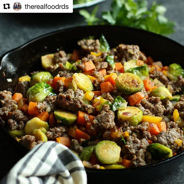 #Repost @therealfoodrds with @get_repost ・・・ Channel your inner farmer with this veggie-filled, but hearty one-skillet Brussels Sprouts Sweet Potato Sausage Hash. Our first choice is to eat as a satisfying egg-free breakfast, but it's equally tasty (if not better) as reheated leftovers. . • For the recipe go here: https://therealfoodrds.com/brussels-sprouts-sweet-potato-sausage-hash/ OR click the link in our bio @therealfoodrds . . . . . #therealfoodrds #realfood #wholefoods #eatclean #cleaneating #dietitianapproved #dietitian #dietitiansofinstagram #registereddietitian #eatrealfood #buzzfeed #feedfeed #huffposttaste #paleo #eeeeeats #sweetpotatoes #brusselsprouts #eatyourveggies #hearty #hash #eggfree #whole30