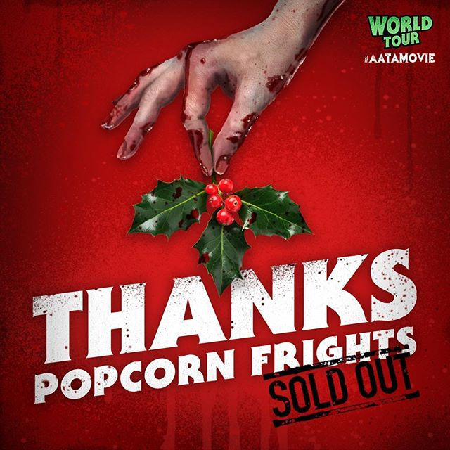 Another sold out show! A huge thanks to everyone at @PopcornFrights for making it a night to remember! 🎶🧟‍♀️ #AATAMovie - - #popcornfrights #filmfestival #thankyou #soldout #annaandtheapocalypse #orion @orionpictures