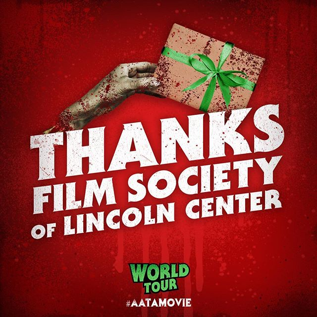 Cheers @filmlinc and our new zombuddies in New York! 🧟‍♀️💀 - - #annaandtheapocalypse #filmfestival #filmsociety #filmsocietylincolncenter #thanks #nyc #newyork #graphic #orionpictures #movie #zombie