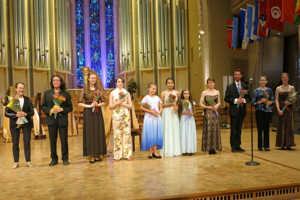 Photo: American Harp Society, Inc. Young Composers Project 2017 Featured Composers in Northfield, Minnesota.