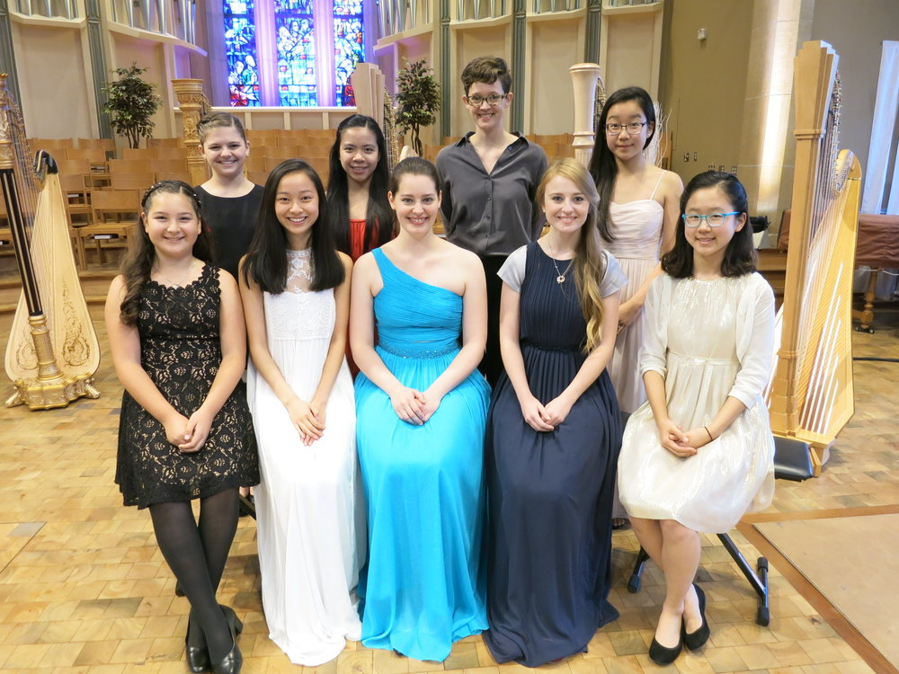 Photo: American Harp Society, Inc. 2017 National Competition Winners in Northfield, Minnesota.