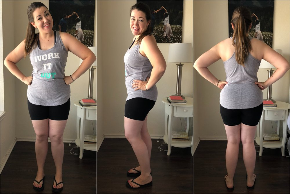 Current progress photos 7.11.18 (Post 21 Day Fix!) Down 10 lbs and 8+ inches!