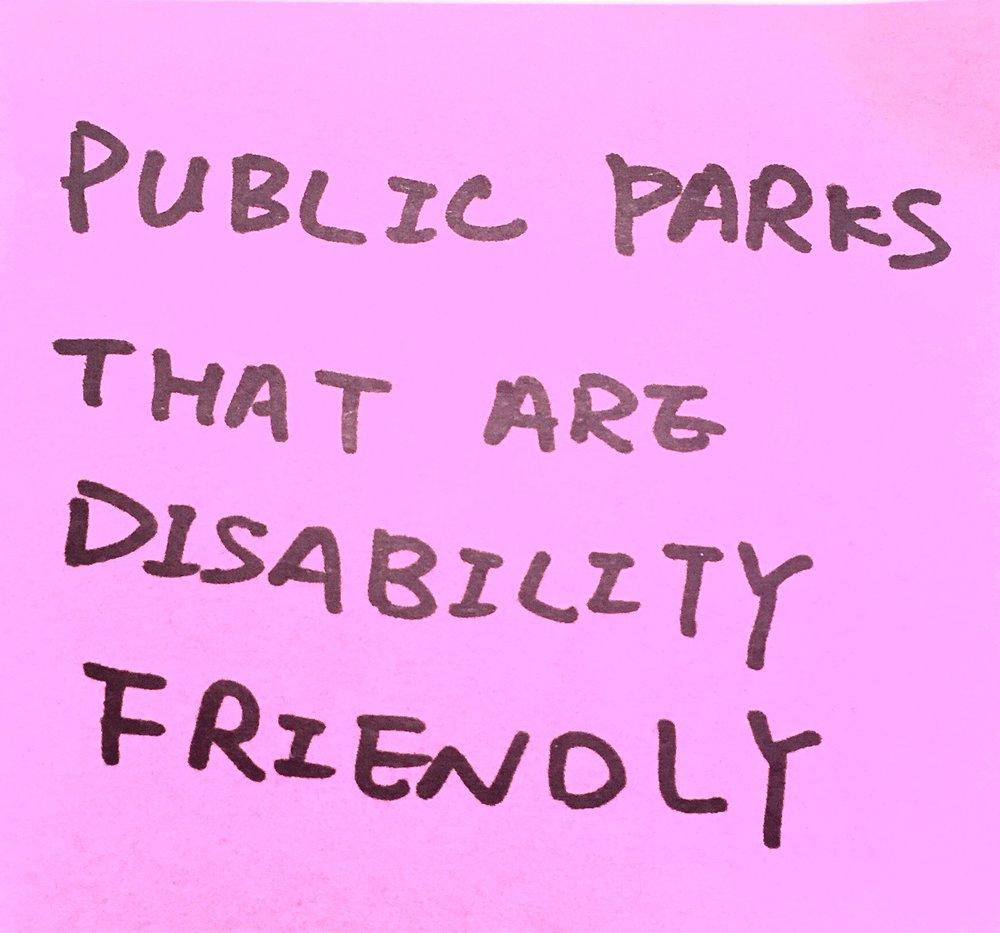 public parks that are disability friendly