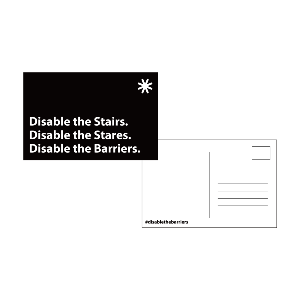 Example of Disable the Barriers postcard