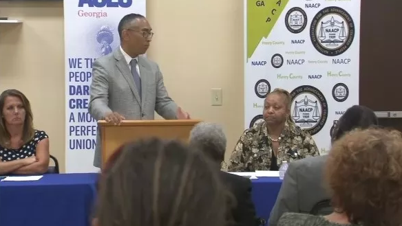 ACLU of Georgia political director, Burrell Ellis. Source: WGCL