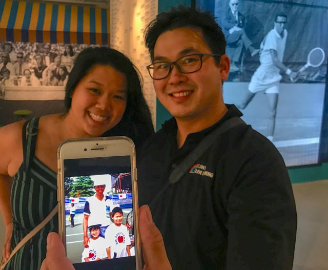 Siblings Dana Chan and Michael Chan share pix and stories from their Arthur Ashe experience at a tennis camp, ca. 1980s.