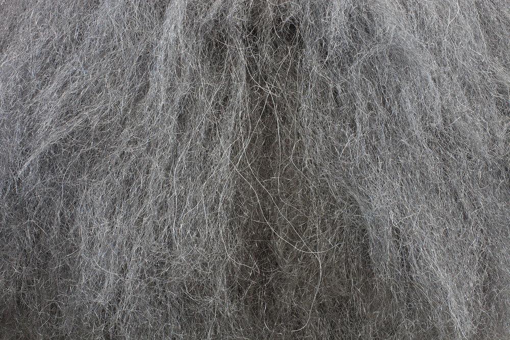 Detail of the steel wool sculpture