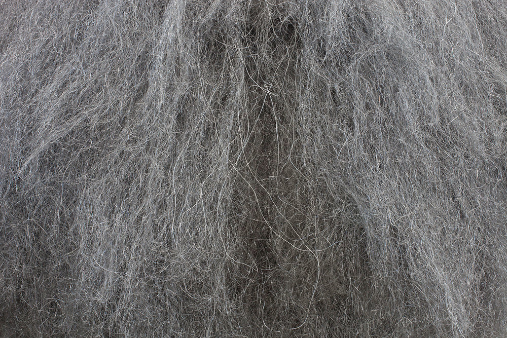 Detail of the steel wool sculpture 'Crowd-Pleaser'