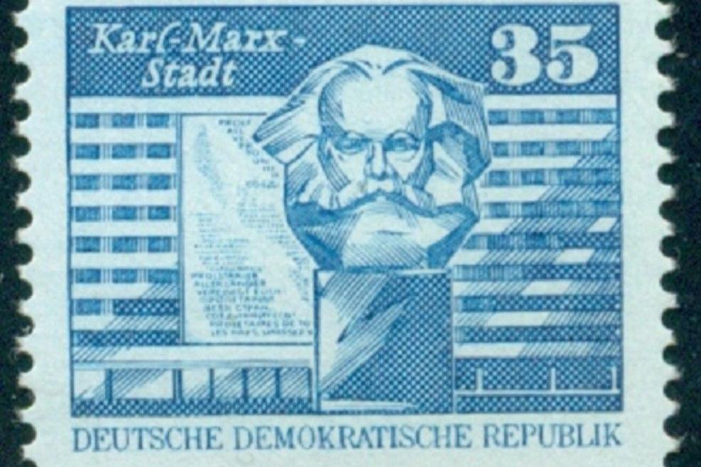DDR era postage stamp