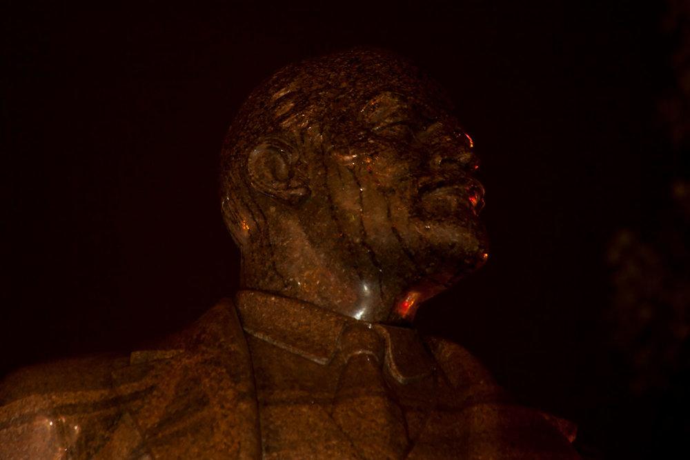 Lenin monument in Kiev, 2013