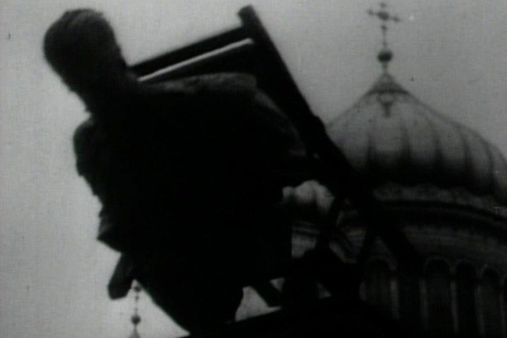 Film still from S. Eisenstein's 'October'