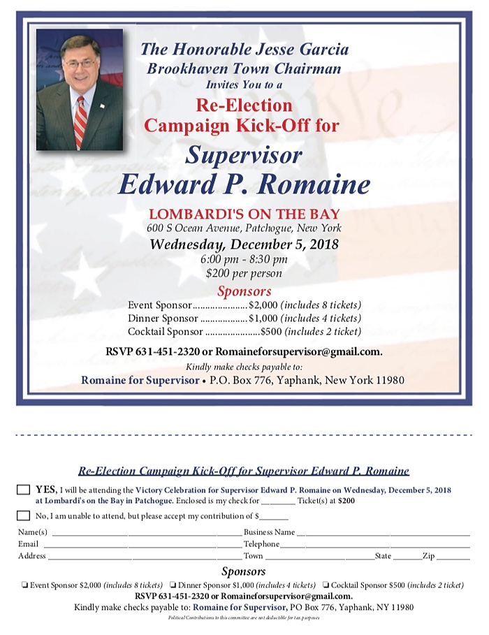 Ed Romaine Re-Election